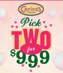 Play Pick 2 Game from Carino's Italian Restaurant