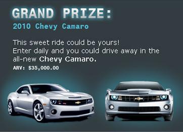 Hershey's Camaro Sweepstakes