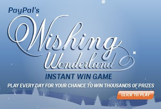PayPal's Wishing Wonderland Holiday Instant Win Sweepstakes