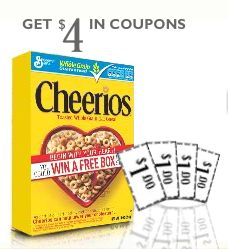 photograph regarding Cheerios Coupons Printable called Cheerios: 4 $1/1 Discount codes and a Likelihood in direction of Earn a No cost Box