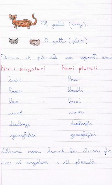 I Nomi Maschile Femminile Singolare Plurale