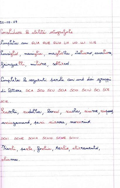 Esercizi Di Consolidamento Delle Abilità Ortografiche Scuola