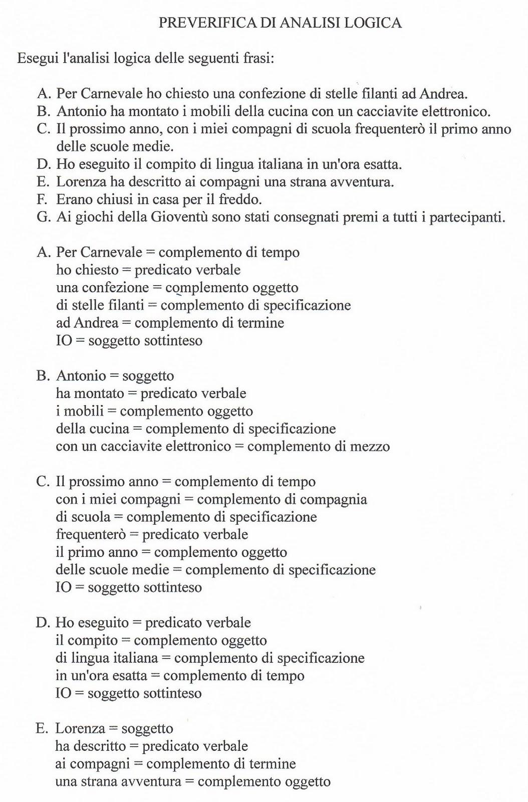 Ciao Bambini Ciao Maestra Sintassi