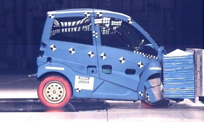 T27 frontal impact crash test