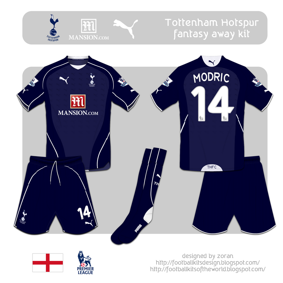 Tottenham Vs Ajax Home Or Away: Coz I Like Football: Tottenham Hotspur F.C. Fantasy Kits