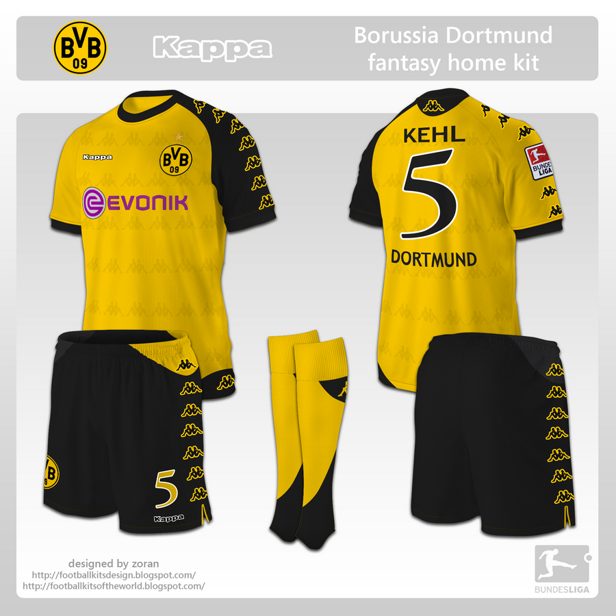 coz i like football  Borussia Dortmund fantasy kits b02b64f0c