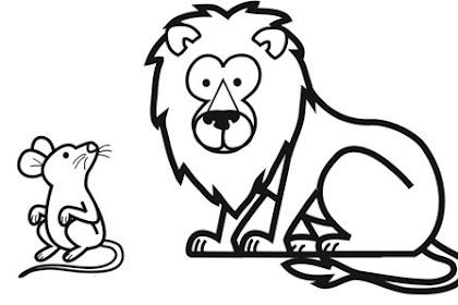 Dibujos De La Fabula El Leon Y El Raton Para Colorear Imagui