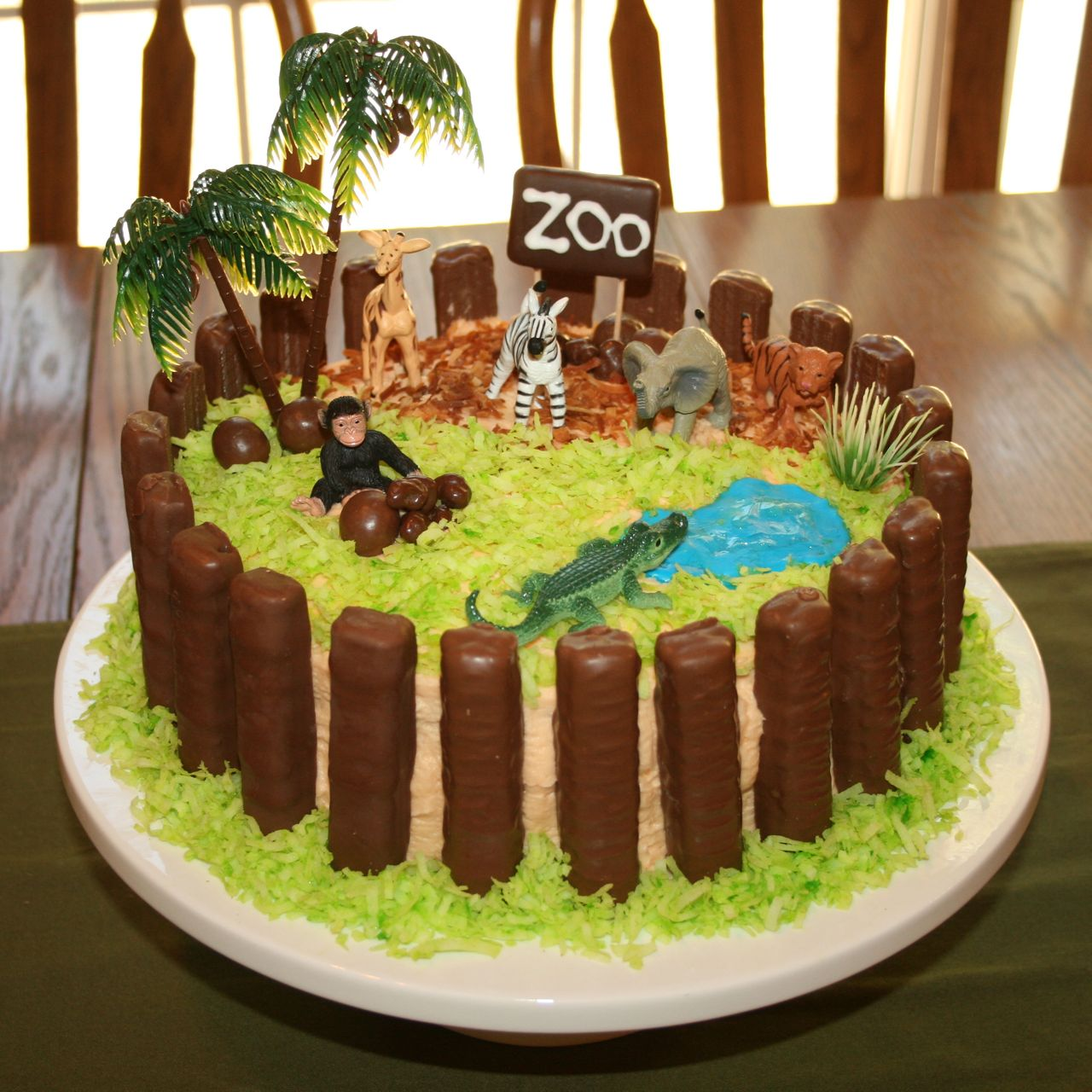 Zoo Birthday Cake On Pinterest