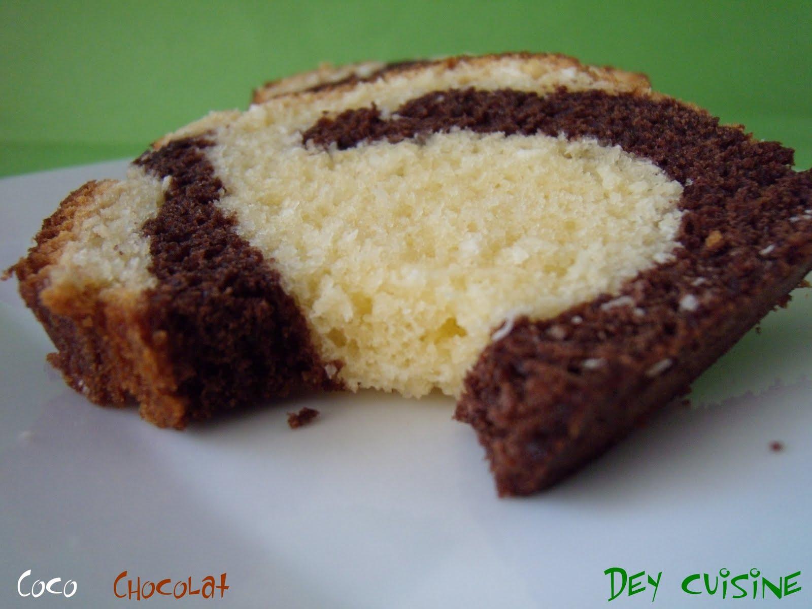 Cake Marbr Ef Bf Bd Chocolat Noix De Coco