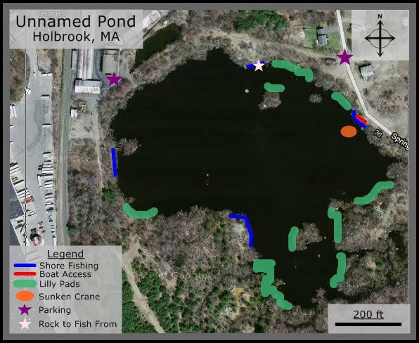 Massachusetts Bass Fishing Spots: Kanes Pond, Holbrook, MA