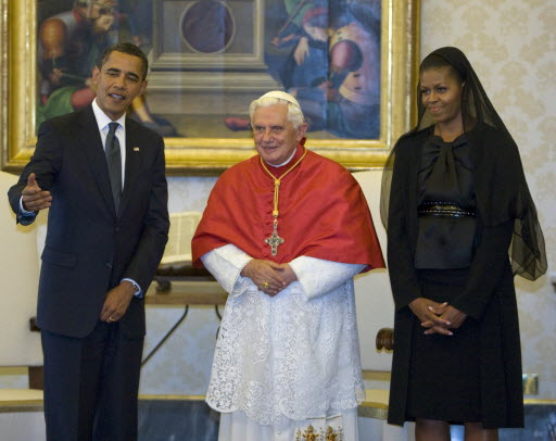 dress michelle obama wore to meet pope francis