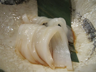 Fresh Ika Sashimi Served with Yuzu and Ponzu Sauce