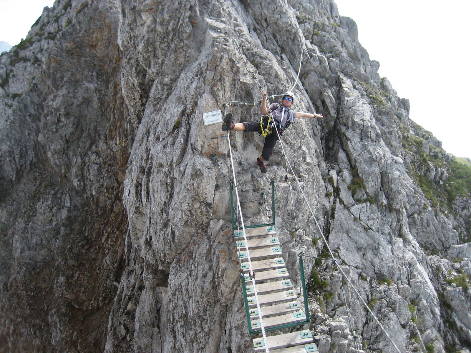 Klettersteig Wachau : Brandjochspitze über innsbrucker klettersteig u der halltaler