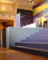 Inaccesible? Steps up to platform at Sinn Fein Ard Fheis