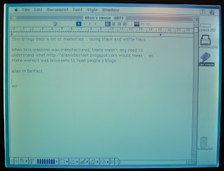 Screenshot from a 1994/5 Apple Mac laptop - PowerBook 150