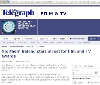 Capture of Belfast Telegraph online article using the strange spelling Niorthern Ireland in the headline