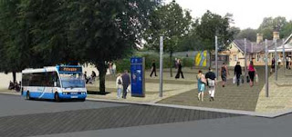 Proposed front of Lisburn Train Station - Lisburn Masterplan
