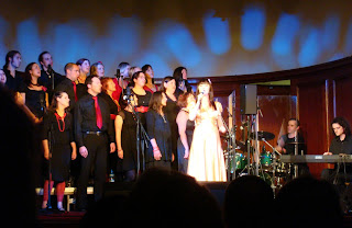 Bronagh Gallagher singing with the Inishowen Gospel Choir as part of 2009 Belfast Festival at Queen's