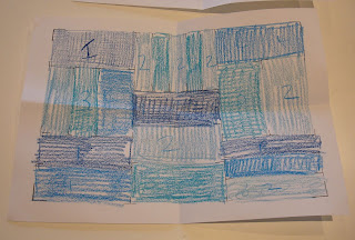 Sean Scully - four colour (four shades of blue) version
