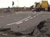 Belfast Cromac Street road collapse - image (c) BBC