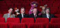 Funders, First Minister Peter Robinson and deputy First Minster Martin McGuinness at the launch of the second series of Sesame Tree