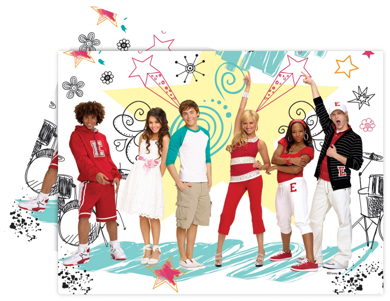 Smiley Miley S World High School Musical Posters