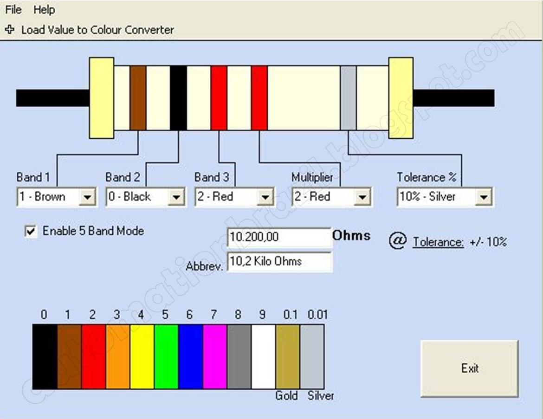 Resistor Colourcode Decoder | Automationbrazil