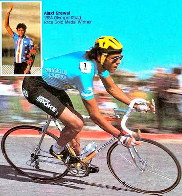 Sikh American Gold Medalist Alexi Grewal (source: Cycling Art Blog)