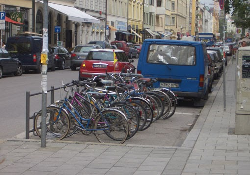 Bicycles Is Car Parking Space