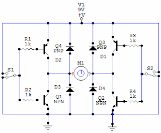 Electronic Circuits For Beginners: H bridge circuit on