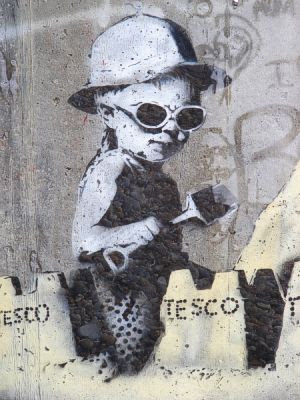 Banksy: Detail of the child