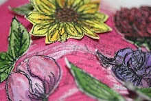 Thread Sketched Flowers