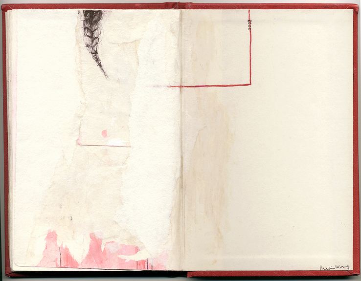 2007, And Other Observations, 2007. pen, acrylic & collage on altered book.