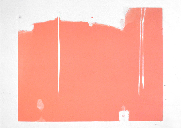 Ignu vii, 1998, collaborative series with Kham Saybanha, based on Allen Ginsberg's poem Ignu. monotype on printmaking paper. 34.3 x 45.7 cm