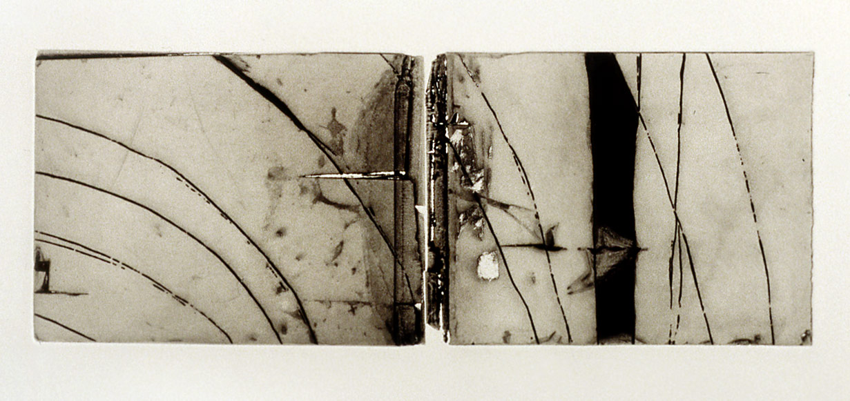 Can You Hear Me, 1999. dyptych, etching & mezzotint on printmaking paper. 11.4 x 30.5 cm