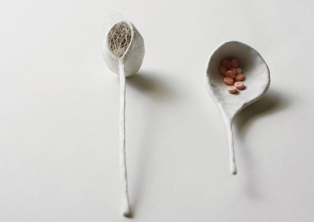 Offerings series, ongoing. Pills, paper & wire.