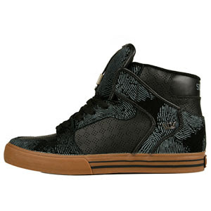 Supra Mens Vaider Black Thumbprint S28008-BLK