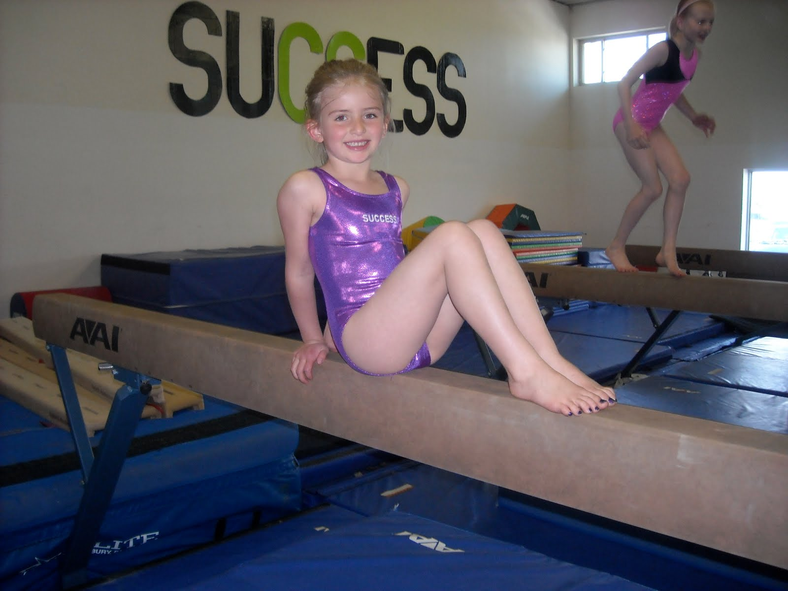 Cute gymnastics teen