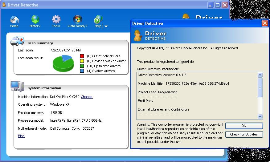 6.2.5.0 DETECTIVE TÉLÉCHARGER DRIVER