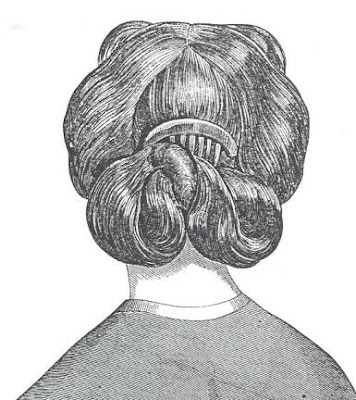 Wondrous Couture Historique 1860S Hairstyles Short Hairstyles For Black Women Fulllsitofus