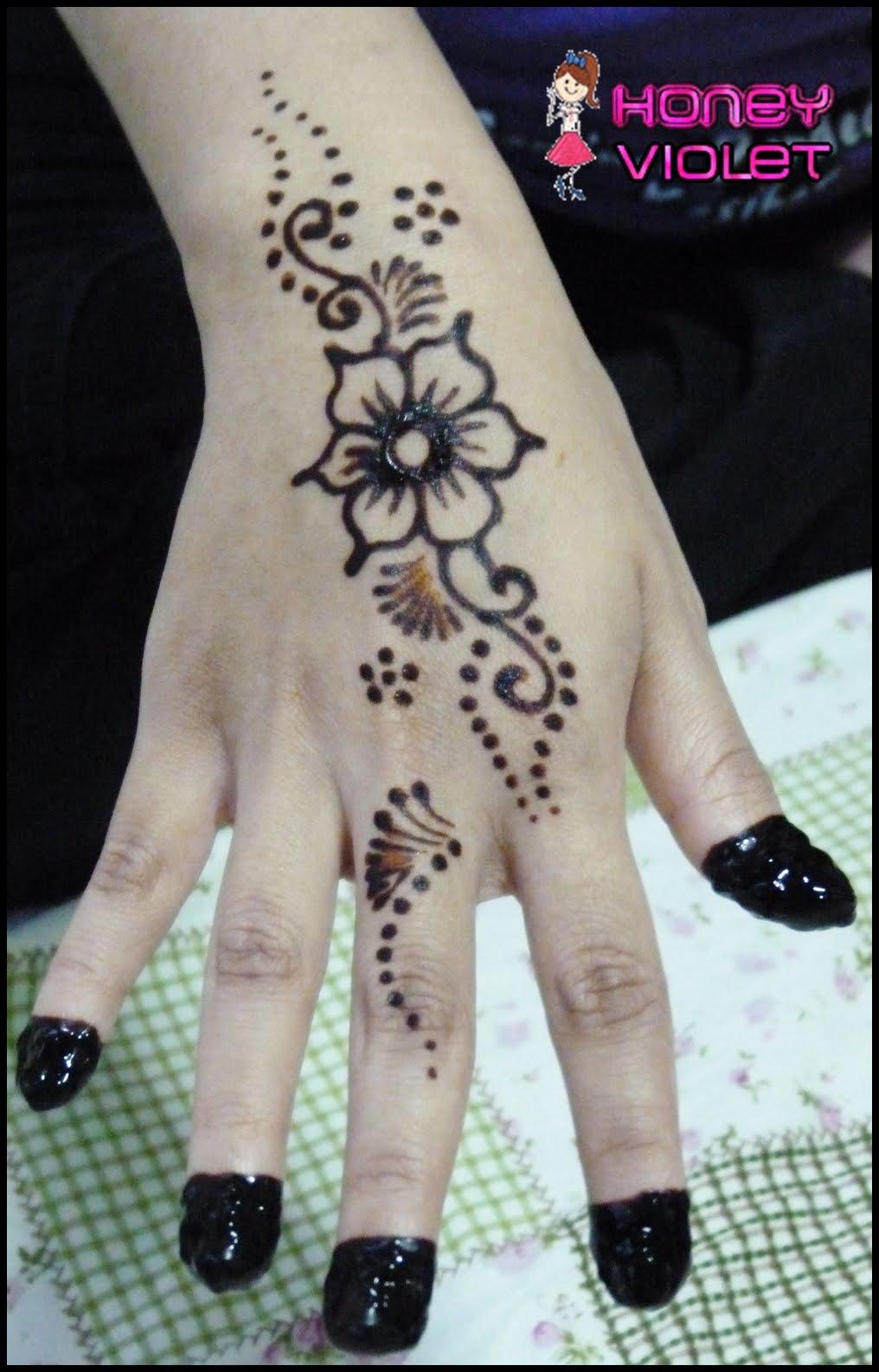 Cara Melukis Tangan Dengan Henna : melukis, tangan, dengan, henna, Lukisan, Simple, Mudah, Cikimm.com