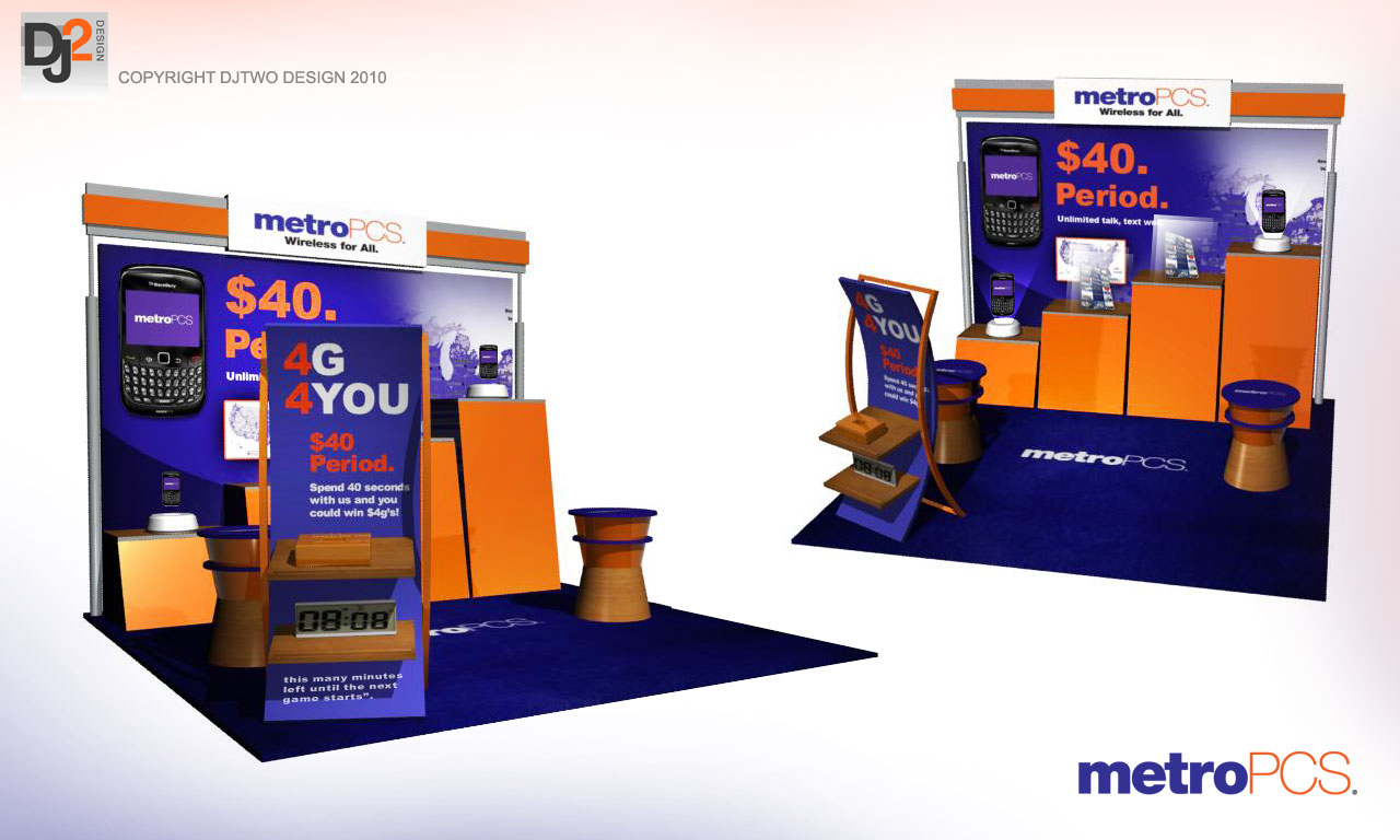 MetroPCS Mall Kiosk Model | DESIGNS BY DJ