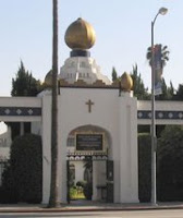 SRF Hollywood temple gate
