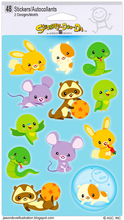 Jason Dove Illustration: Cute Pets Sticker Sheets