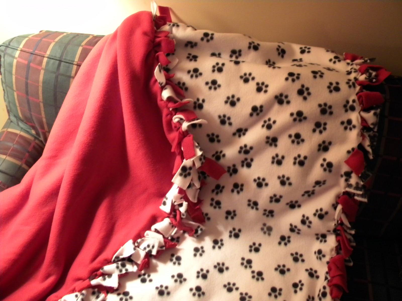 Peggottys Corner Homemade Fleece Tie Blanket