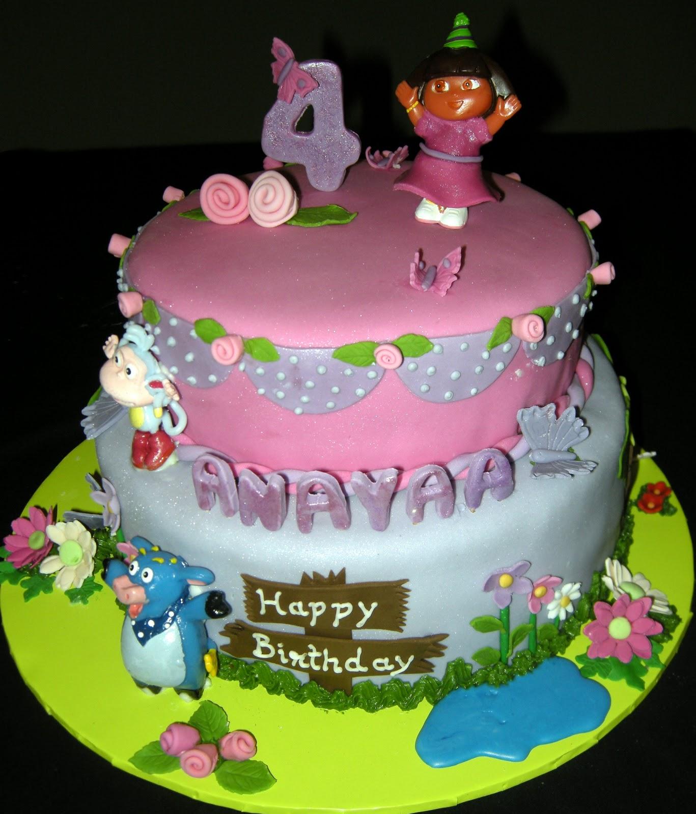 Harshi S Cakes Amp Bakes Dora Amp Friends Birthday Cake