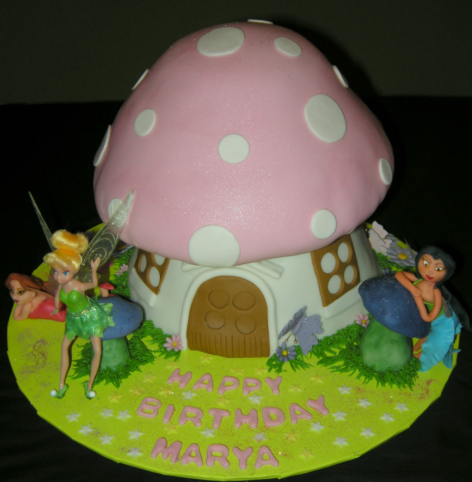 Harshi S Cakes Amp Bakes Tinkerbell Theme Cake