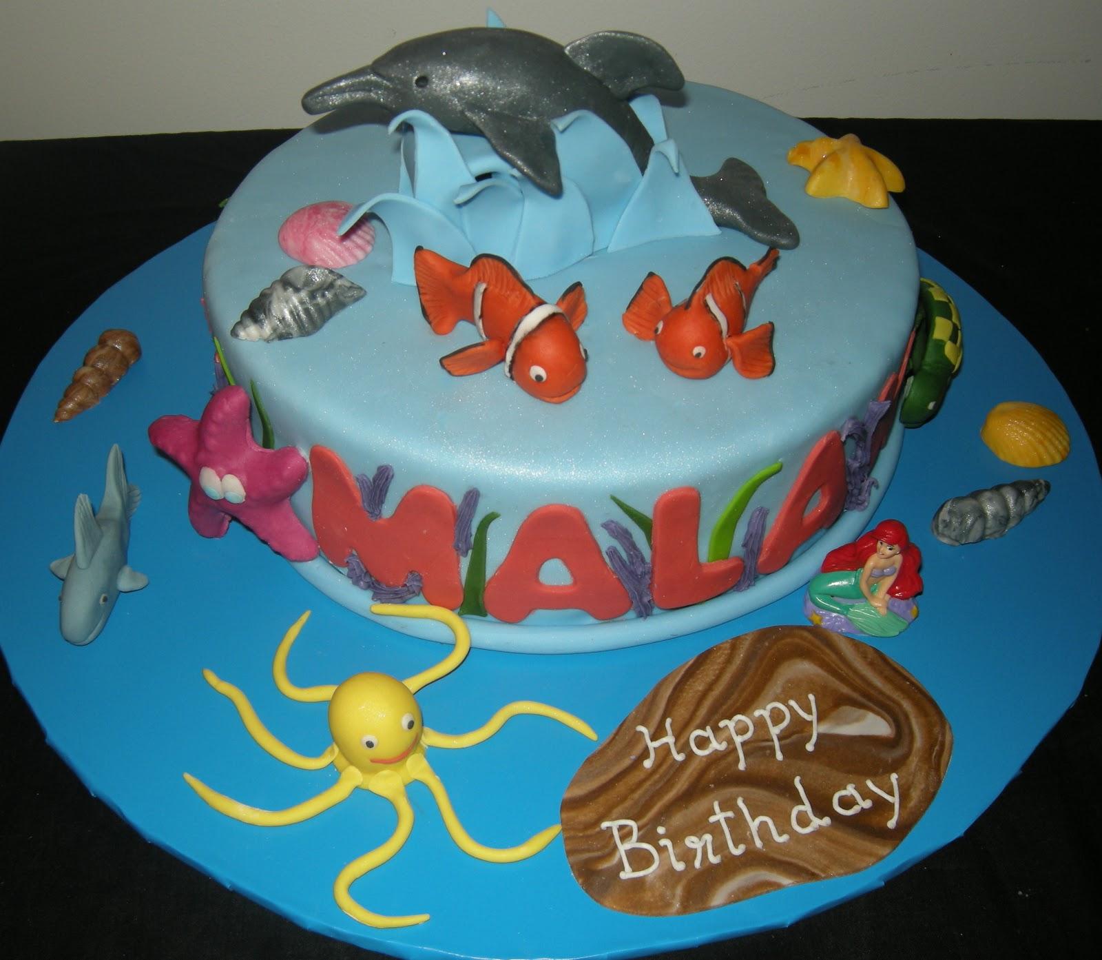 Harshi S Cakes Amp Bakes Ocean Theme Cake