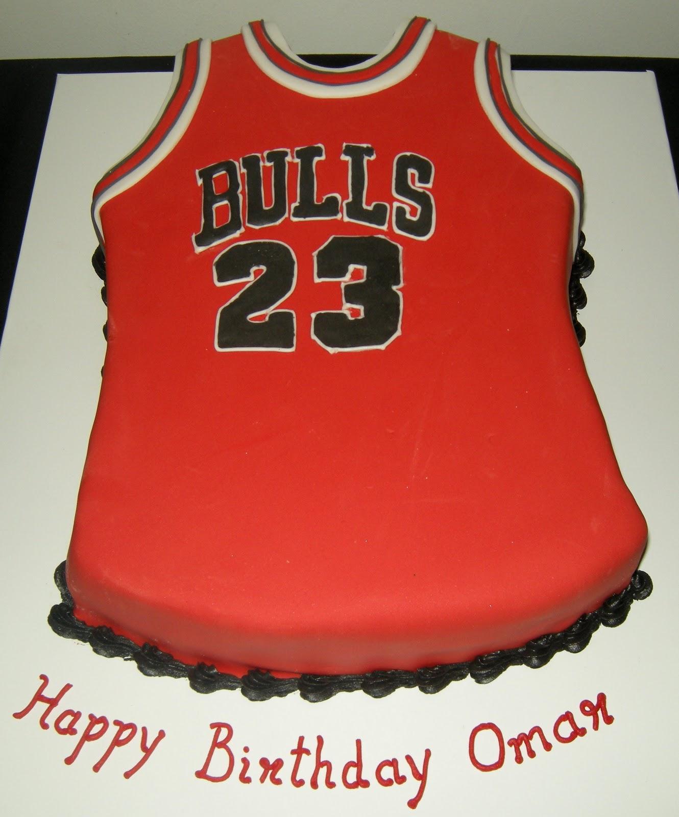 Harshi's Cakes & Bakes: Bulls Basketball Jersey