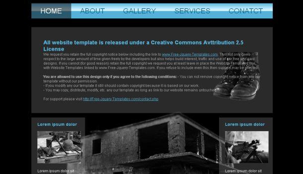 Military Academy Black Jquery Website Template
